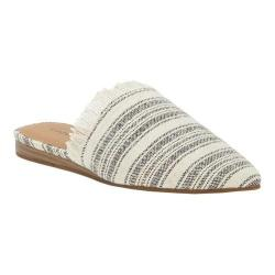Women's Lucky Brand Bapsee Mule Black/Natural Textile