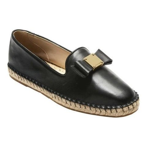 Women's Cole Haan Tali Bow Espadrille Black Leather
