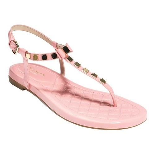 51791ac45e84d Women  x27 s Cole Haan Tali Mini Bow Studded Thong Sandal Coral Almond  Synthetic
