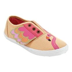 Girls' Jelly Beans Sage Canvas Sneaker Little Kid Coral Canvas