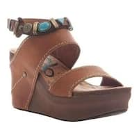 Women's OTBT Layover Heeled Sandal Tobacco Leather