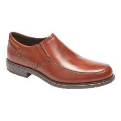 Men's Rockport Total Motion Dress Slip On New Brown Leather