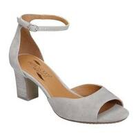 Women's Aerosoles Ooh La La Ankle Strap Sandal Light Grey Suede