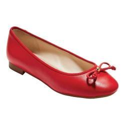 Women's Cole Haan Megan Lace Bow Ballet Flat Aura Orange Leather