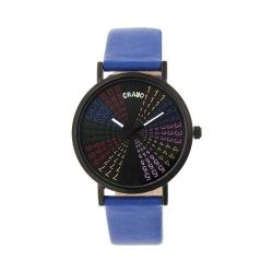 Crayo Fortune Strap Watch Black/Navy Leather