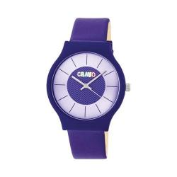 Crayo Trinity Strap Watch Purple Leatherette/White
