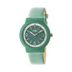Crayo Vivid Strap Watch Green Leatherette/Seafoam