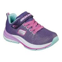 Girls' Skechers Double Strides Duo Dash Sneaker Purple/Turquoise