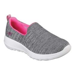 Girls' Skechers GOwalk Joy Enchant Slip-On Sneaker Gray/Pink