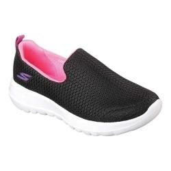 Girls' Skechers GOwalk Joy Joy Steps Slip-On Shoe Black/White