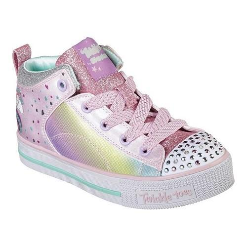 cc3600e463ce Shop Girls  Skechers Twinkle Toes Twinkle Lite Unicorn Chic High Top  Pink Multi - Free Shipping Today - Overstock - 21225261