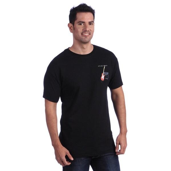 It's All About Guitars Men's Black T-shirt