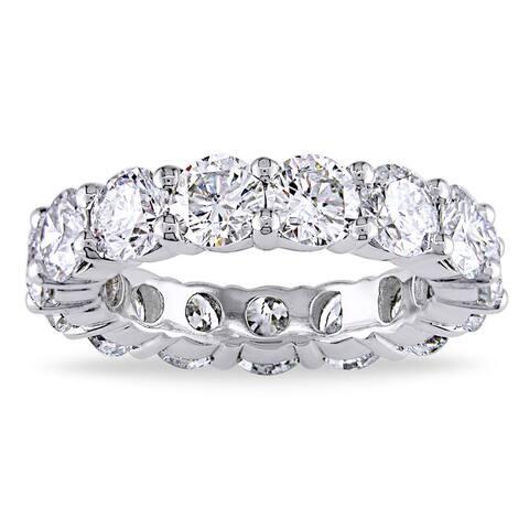 Miadora 18k White Gold 5ct TDW Diamond Full Eternity Ring