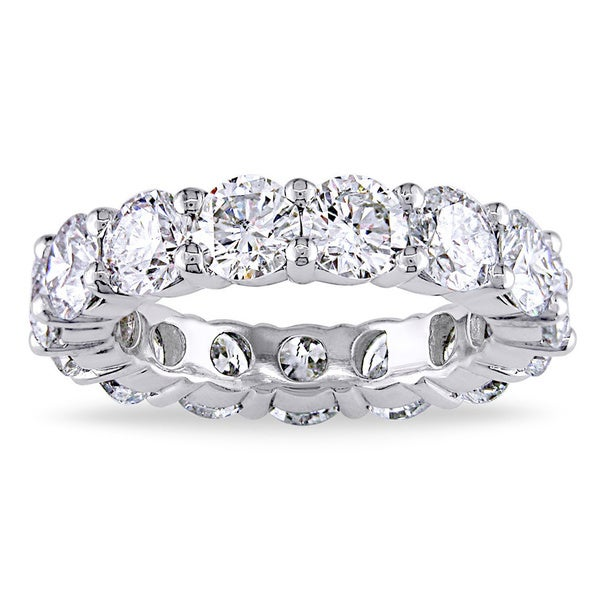 Miadora 18k White Gold 5ct TDW Diamond Full Eternity Ring