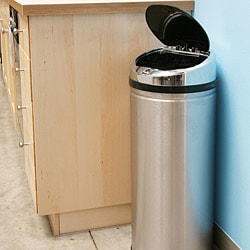 iTouchless 13-gallon Steel Touchless Trash Can