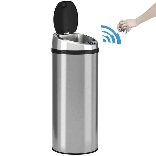 Shop iTouchless Automatic Touchless Sensor Kitchen Trash Can ...