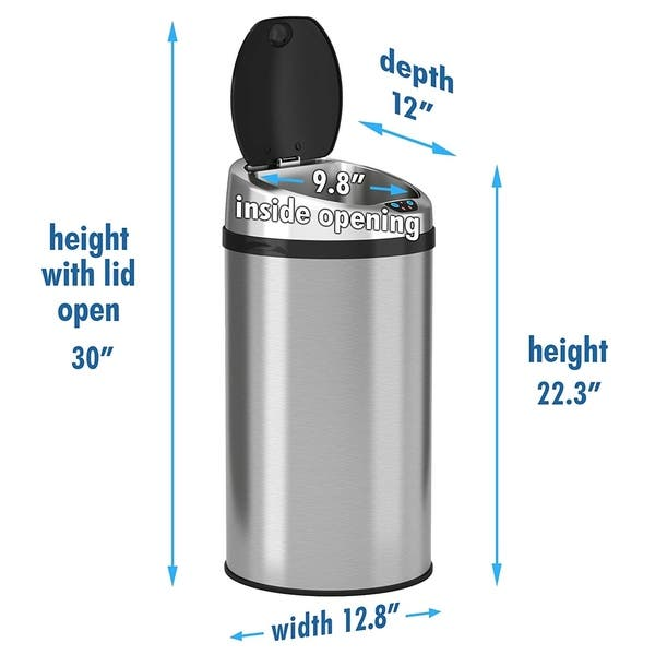 Shop iTouchless Automatic Sensor Kitchen Trash Can ...