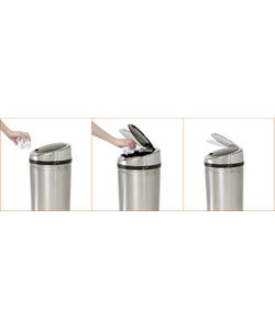 iTouchless NX 8-gallon Automatic Stainless Steel Trash Can - Thumbnail 2