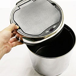 iTouchless 1.5 Gallon Round Stainless Steel Automatic Sensor Touchless Trash Can - Thumbnail 1