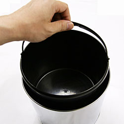 iTouchless 1.5 Gallon Round Stainless Steel Automatic Sensor Touchless Trash Can - Thumbnail 2