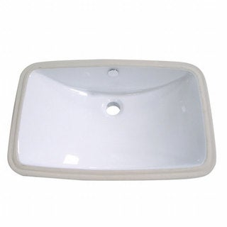 Vitreous White China Undermount Sink