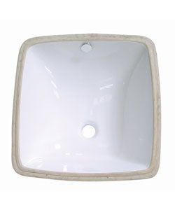 Vitreous White China Lavatory Sink