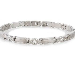 Sabona Lady Executive Silver Gem Magnetic Bracelet|https://ak1.ostkcdn.com/images/products/2497695/P10718780.jpg?_ostk_perf_=percv&impolicy=medium