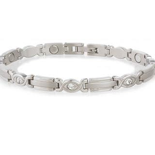 Sabona Lady Executive Silver Gem Magnetic Bracelet|https://ak1.ostkcdn.com/images/products/2497695/P10718780.jpg?impolicy=medium