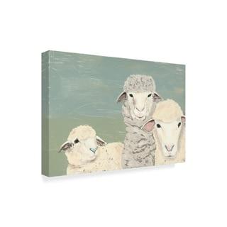 Jade Reynolds 'Bashful Sheep Ii' Canvas Art