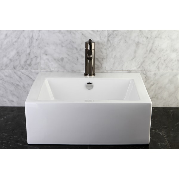 Shop Commodore White Table Mount Bathroom Sink Free