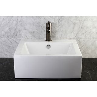 Commodore White Table Mount Bathroom Sink