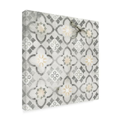 June Erica Vess 'Marble Tile Design Iv' Canvas Art