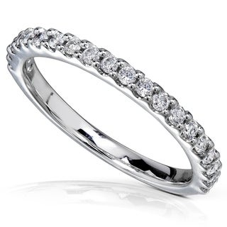 Annello 14k White Gold 1/4ct TDW Diamond Semi-Eternity Band (More options available)