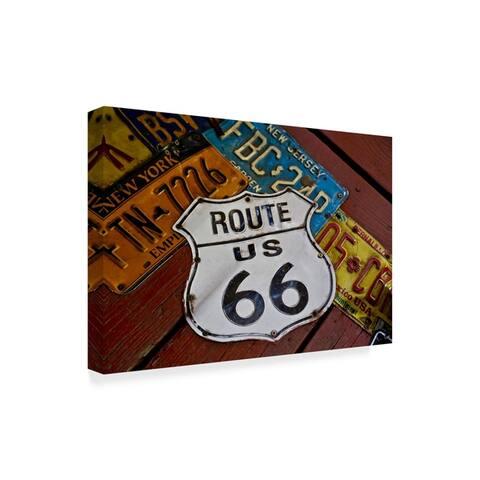 American School 'Route 66 License Plates' Canvas Art