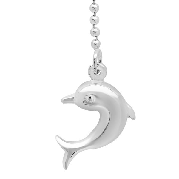 Sterling Silver Palline Anklet with Dolphin Drop