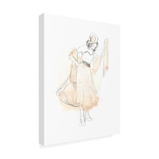 June Erica Vess 'Blush And Grey Fashion I' Canvas Art
