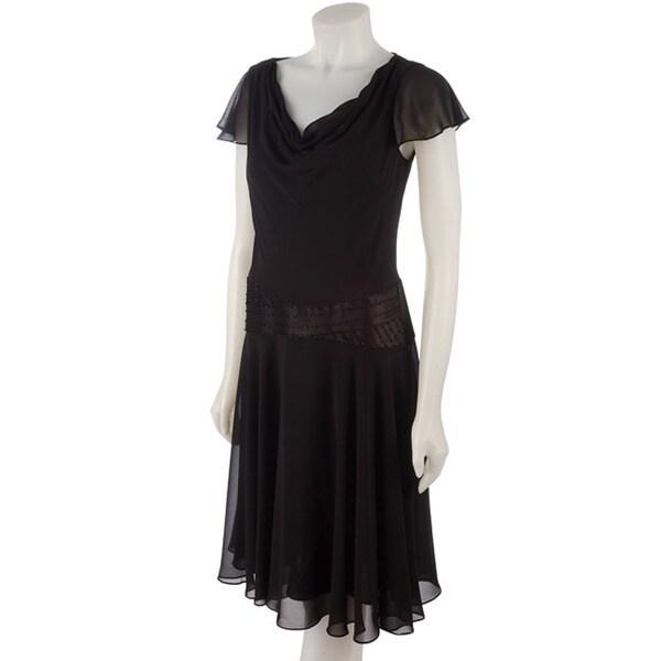 Shop Liz Claiborne Dresses Chiffon Drop Waist Dress Free Shipping