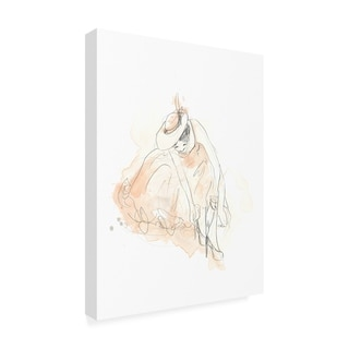 June Erica Vess 'Blush And Grey Fashion Iii' Canvas Art