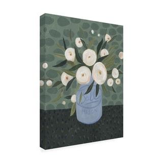 Emma Scarvey 'Mason Jar Bouquet Iii' Canvas Art