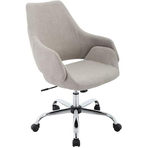 """Hanover Everson 17.75-20.75"""" Gas Lift, Wheeled Office Chair in Taupe"""