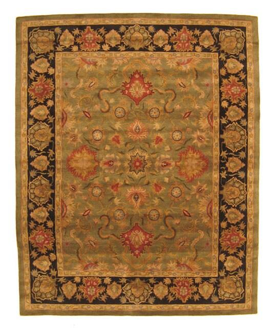 Hand-tufted Navin Green Wool Rug (5' x 8')