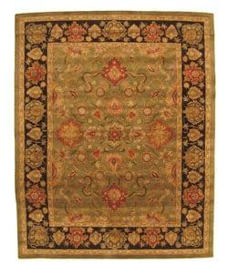 Hand-tufted Navin Green Wool Rug (5' x 8') - Thumbnail 0