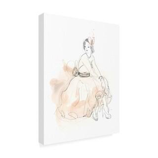June Erica Vess 'Blush And Grey Fashion Ii' Canvas Art