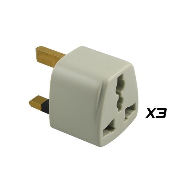 Eforcity 3 Piece Usa To Uk Converter Travel Plug Adapter