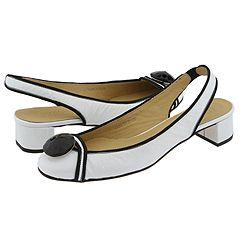 Prari Fabiola White Patent Pumps/Heels
