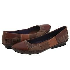 Indigo by Clarks Sunflower Mid Brown Combo Leather Flats