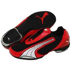 Puma Testastretta Canvas Black/White/High Risk Red Athletic - Size 10 D