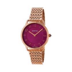 Women's Bertha Abby BR6804 Watch Rose Gold Stainless Steel/Fuchsia