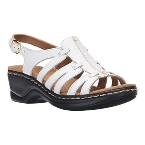 acbfc48768e Shop Women s Clarks Lexi Marigold Sandal White Leather - Free Shipping  Today - Overstock - 21266983