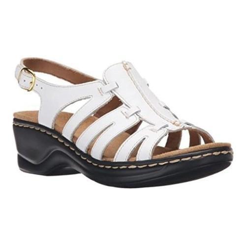 2f9233ed6e82e Shop Women s Clarks Lexi Marigold Sandal White Leather - Free Shipping  Today - Overstock.com - 21266983